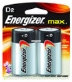 Energizer E95BP-2 MAX Alkaline - Batteries D 2Pk - E95BP-2