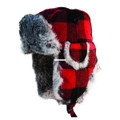 Eskimo 27761 Plaid Alaskan Fur Hat - (Medium) - 27761
