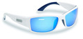 Flying Fisherman 7717WSB Razor - Matte White Blue Mirror Sunglasses - 7717WSB