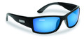 Flying Fisherman 7717BSB Razor - Matte Black Blue Mirror Sunglasses - 7717BSB