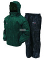 Frogg Toggs AS1310-109LG All Sport - Rain Suit, Dark Green|Black|Size LG - AS1310-109LG