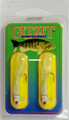 "Gitzit 16181 Little Tough Guy Jig - 1 1/2"", 1/8 oz, Sz 4 Hook, White - 16181"