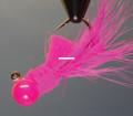 Hawken AJH14014 Aerojig Hackle Jig - 1/4 oz, 1/0 Hook, Pink - AJH14014