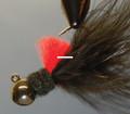 Hawken AJM18103 Aerojig Marabou Jig - 1/8 oz, #1 Hook, Black & Red - AJM18103