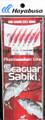 Hayabusa EX140-14 Sabiki Seaguar - Red Hook Red Aurora Sz 14 (6 Hooks) - EX140-14