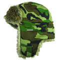 Jacob Ash 45-908 Mens Camo Trapper - Hat Fleece Lining & Faux Fur - 45-908