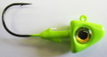 """Kalin 12USJ CH Ultimate """"S"""" Jighead - 1/2 oz, 4/0 Hook, Chartreuse, 2/Pack - 12USJ CH"""