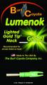 Lumenok GT1G Green Lighted Nock For - Gold Tip 1Pk - GT1G