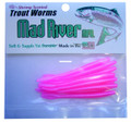 """Mad River TW-02 Trout Worm, 2 1/2"""" - Pink Pearl, Floating, 10/Pack - TW-02"""