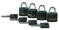 Master Lock 121Q Black Padlock - 4-Pack Keyed Alike - 121Q