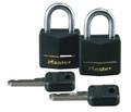 Master Lock 121T Black Padlock - 2-Pack Keyed Alike - 121T