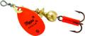 Mepps B0 HO Aglia In-Line Spinner - 1/12 oz, Plain Treble Hook, Hot - B0 HO
