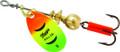 Mepps B0 HFT Aglia In-Line Spinner - 1/12 oz, Plain Treble Hook, Hot - B0 HFT