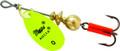 Mepps B0 HC Aglia In-Line Spinner - 1/12 oz, Plain Treble Hook, Hot - B0 HC