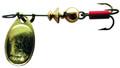 Mepps B0 G Aglia In-Line Spinner - 1/12 oz, Plain Treble Hook, Gold - B0 G
