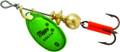 Mepps B0 GRP Aglia In-Line Spinner - 1/12 oz, Plain Treble Hook, Green & - B0 GRP