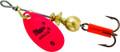 Mepps B0 HP Aglia In-Line Spinner - 1/12 oz, Plain Treble Hook, Hot - B0 HP
