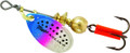 Mepps B0 RBT Aglia In-Line Spinner - 1/12 oz, Plain Treble Hook, Rainbow - B0 RBT