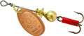 Mepps B0 C Aglia In-Line Spinner - 1/12 oz, Plain Treble Hook, Copper - B0 C