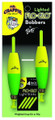 "Mr Crappie M2BW-2YG-GL Flo Glo - Lighted Bobbers 2-1/2"" Cigar Y/G 2Pk - M2BW-2YG-GL"