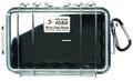 Pelican 1050-025-100 Micro Case - Black/Clear 7-1/2x5-1/16x3-1/8 - 1050-025-100