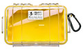 Pelican 1050-027-100 Micro Case - Yellow/Clear 7-1/2x5-1/16x3-1/8 - 1050-027-100
