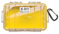 Pelican 1040-027-100 Micro Case - Yellow/Clear 7-1/2x5.06x2.12 - 1040-027-100