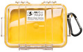 Pelican 1020-027-100 Micro Case - Yellow/Clear 6-3/8x4-3/4x2-1/8 - 1020-027-100