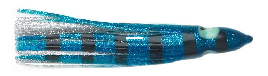 "P-Line SQ45-251 Sunrise Squid Skirt 4 1//2/"" Purple//Clear And Silver Flake"