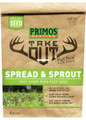 Primos 58582 Take Out Food Plot - Seed, Spread & Sprout, 1/4 Acre - 58582