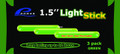 "Promar GS-115G 1.5"" Light Glow - Stick Green 3Pk - GS-115G"