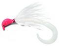 Pucci PFJ200-FL/WH Bucktail Flash - Striper Jig, 2 oz, Fluorescent Red - PFJ200-FL/WH