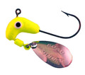 Road Runner 153-012 Jig Head - w/Spinner, 1/8 oz, Chartreuse - 153-012