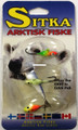 Sitka BTKA-8 Sitka Assorted ice - jigs, size 8, 3 pack. Great colors - BTKA-8