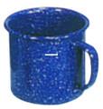 Stansport 15985 Enamel Coffee Mug - Stainless Edge - 12 Oz - 15985