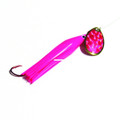 Trout Killer TK PINK-PINK 3 Snelled - Trout Spinner, #3 Blade, Sz 4 Red - TK PINK-PINK 3
