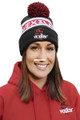 Vexilar CAP018 Black, Red and - White- Cuffed Knit Hat W/POM - CAP018