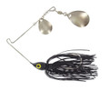 Wahoo WAH-PCC14-3 Promo Spinnerbait - 1/4 oz, 4/0 Hook, Black, Double - WAH-PCC14-3