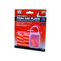 Walkers GWP-FP5PK Foam Ear Plugs - NRR 30dB, Orange, 5 Pairs, Blister - GWP-FP5PK