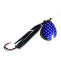 Wicked Lures KK BLACK-PURP 6 - Snelled Spinner, #6 Blade - KK BLACK-PURP 6