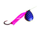 Wicked Lures KK PINK-PURP 6 Snelled - Spinner, #6 Blade, Pink/Purple - KK PINK-PURP 6