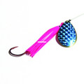 Wicked Lures KK PINK-BLUE 6 Snelled - Spinner, #6 Blade, Pink/Blue - KK PINK-BLUE 6