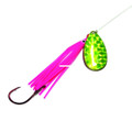 Wicked Lures WL PINK-CHART 5 - Snelled Spinner, #5 Blade - WL PINK-CHART 5