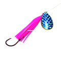 Wicked Lures WL PINK-BLUE 5 Snelled - Spinner, #5 Blade, Blue/Pink - WL PINK-BLUE 5