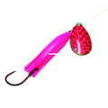 Wicked Lures WL PINK-PINK 5 Snelled - Spinner, #5 Blade, Pink/Pink - WL PINK-PINK 5