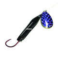 Wicked Lures WL BLACK-PURP 5 - Snelled Spinner, #5 Blade - WL BLACK-PURP 5