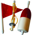 Willapa 00128 Buoy Stick Kit 3Pc - Stick Red/Wht Buoy - 128