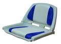 Wise 8WD139LS-015 Boat Seat - Grey-Blue Plastic Folding w/o Swivel - 8WD139LS-015