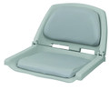 Wise 8WD139LS-717 Folding Plastic - Frame Seat w Cushion Pads Grey/Grey - 8WD139LS-717