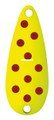 Worth 38760 Chippewa Spoon, 1/2 oz - Fluorescent Yellow/Red Spots - 38760